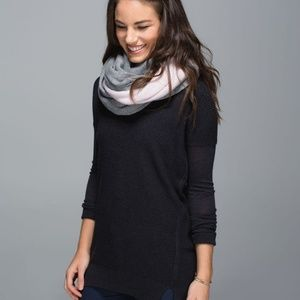 Lululemon Blissed Out Circle Scarf Reversible Knit